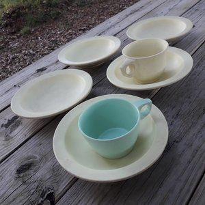 Mugs Bowls Melmac RV Camping Cups Melamine Set 8